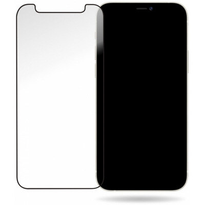 Striker Full Glue Ballistic Glass Screen Protector for Apple iPhone 12/12 Pro Black Screen protectors